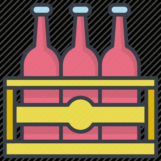 Beer box, beer crate, beer kit, bottles, bottles crate icon - Download on Iconfinder