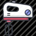 beater machine, egg beater, food mixer, hand food mixer, whisk machine icon