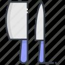 butcher knife, chef knife, cleaver, knife, knives
