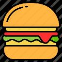 burger, fastfood, hamburger