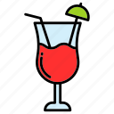 cocktail, drink, juice