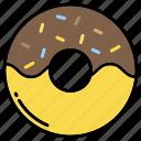 chocolate, donut, doughnut