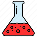 chemistry, experiment, flask