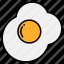 breakfast, egg, fried