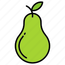 fruit, green, pear
