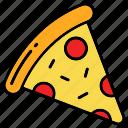 fast food, pizza, slicce