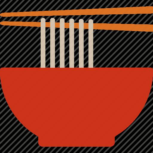 bowl, chopsticks, noodle, noodles, pho icon