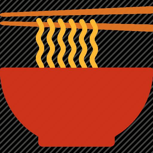 bowl, chopsticks, noodle, noodles, ramen icon