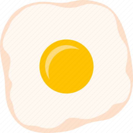 breakfast, color, cooked, egg, food, fried, yolk icon