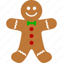 bread, christmas, cookie, ginger, gingerbread, holiday, man icon