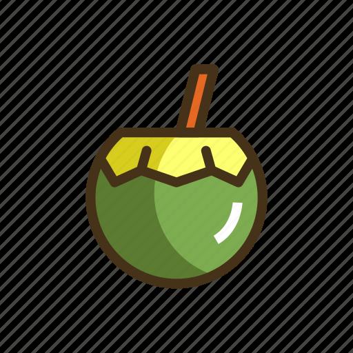 coconut, coconut juice, coconut water, water icon