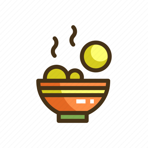 fishballs, meatballs, noodles icon