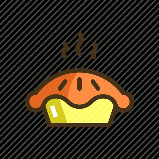 hot pie, pastry, pie icon