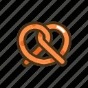 pastry, pretzel icon
