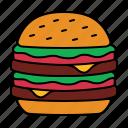 burger, hamburger, food, fast, snack, meal