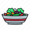 salad, food, fresh, vegetable, green, diet, meal