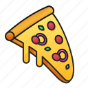pizza, meal, food, snack, fast, restaurant