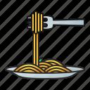 spaghetti, food, pasta, cuisine, meal, noodle