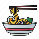 noodle, bowl, food, cuisine, meal, japan, chopstick