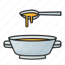 soup, food, bowl, meal, lunch, spoon