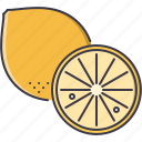 cooking, food, fruit, lemon, shop, supermarket icon
