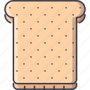 bread, cooking, food, shop, supermarket, toast icon