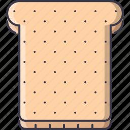 bread, cooking, food, shop, supermarket, toast icon