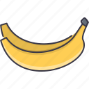 banana, cooking, food, fruit, shop, supermarket icon