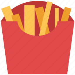 chips, finger chips, french fried potato, french fries, fries, frites icon