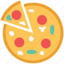 fast food, food, italian food, junk food, meal, pizza icon