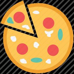fast food, food, italian food, junk food, meal, pizza icon