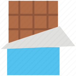 cacao, chocolate, chocolate bar, confectionery, sweet icon