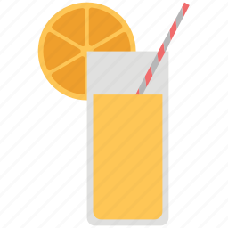 appetizer drink, drink, glass, juice, lemonade, soft drink, straw icon