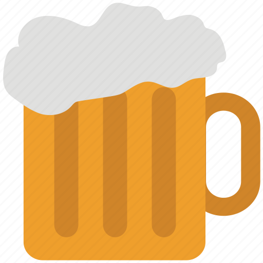 alcohol, alcoholic drink, ale, beer, beverage, chilled beer, mug icon