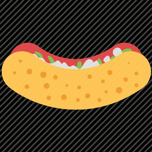 fast food, hotdog, hotdog sandwich, sausage, sausage sandwich icon