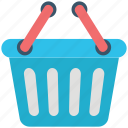 basket, grocery basket, online store, shopping, shopping basket, supermarket basket icon