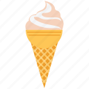 cake cone, cone, cup cone, dessert, food, frozen dessert, icecream icon