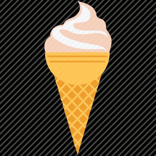 cake cone, cone, cup cone, dessert, food, frozen dessert, icecream icon