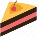 cake, cake pudding, cake slice, dessert, food, quiche, sweet icon