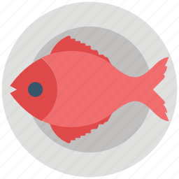 cooked, fish, food, grilled, plate, seafood icon
