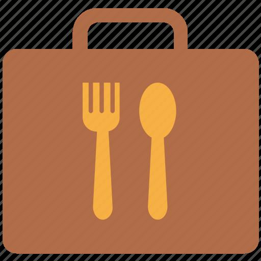 cutlery case, fork, kitchenware, silverware, spoon icon