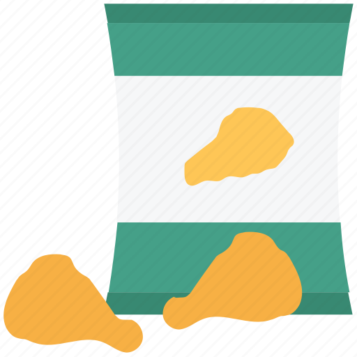 chicken drumstick, chicken pack, fastfood, leg pieces, thigh meat icon