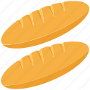 baguette, bakery food, breakfast, food, french bread icon
