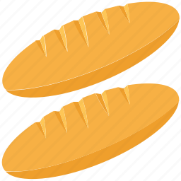 baguette, bakery food, breakfast, food, french bread icon