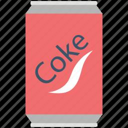 cocacola, coke tin, cola, cola can, drink, soda icon