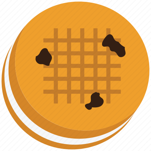 bakery food, biscuit, cookie, cracker, sandwich, snack icon