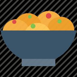 bowl, dessert, dinner, food, meal, snacks icon