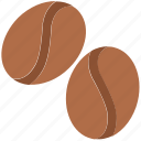 cappuccino, coffee, coffee beans, coffee seeds, espresso icon