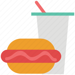 burger, drink, fastfood, food, hamburger, junk food, soda icon