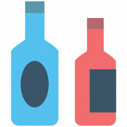 alcohol, alcoholic drink, beverage, drink, wine bottles icon